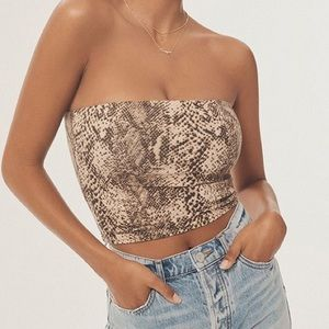 Urban Outfitters Snakeskin Pattern Tube Top